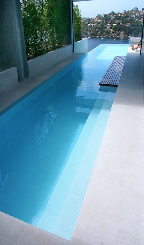 Modern swimming pool design does not always mean that a