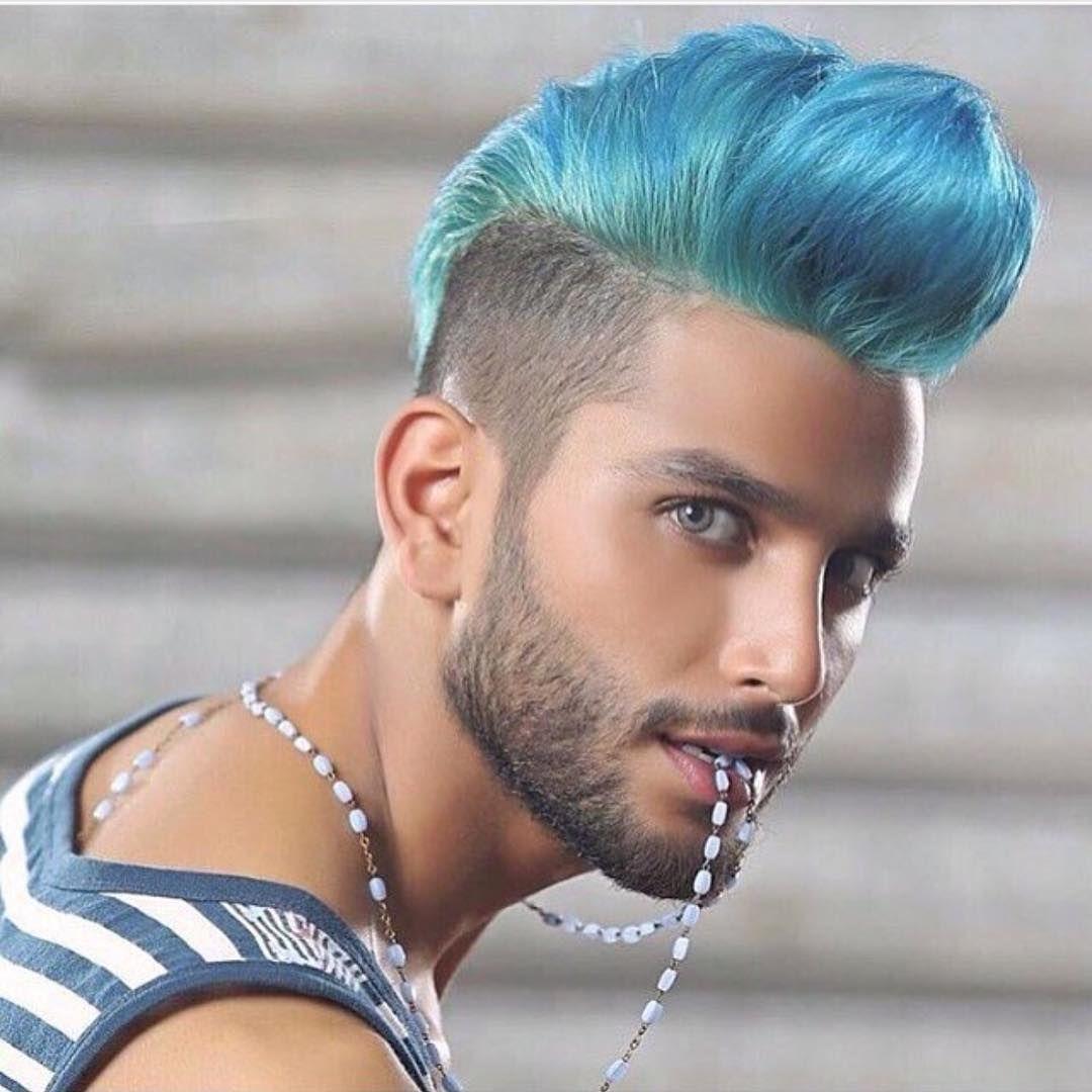 Jimmy On Instagram Loveeee Pompadour Eleganceapproved Hanzdefuko Oster Menhaircolor Hanzonation Haird Mens Hair Colour Men Hair Color Mens Blue Hair