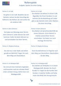 Rollenspiele Deutsch