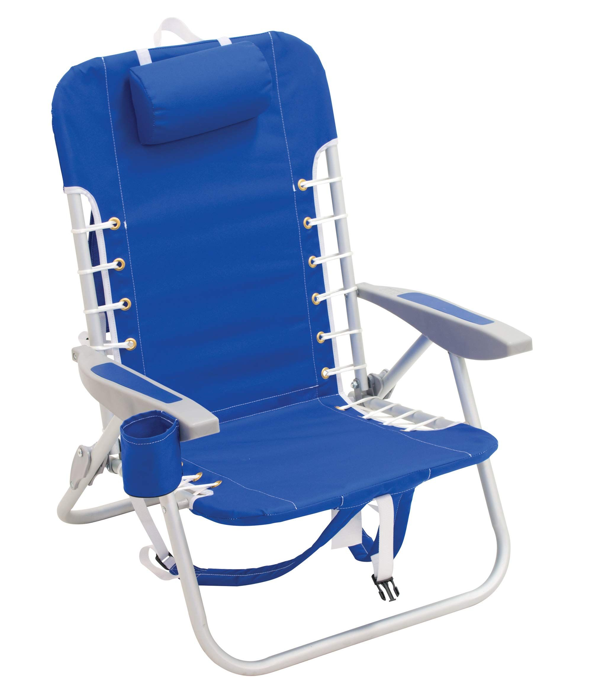 RIO Beach 4Position LaceUp Backpack Folding Beach Chair