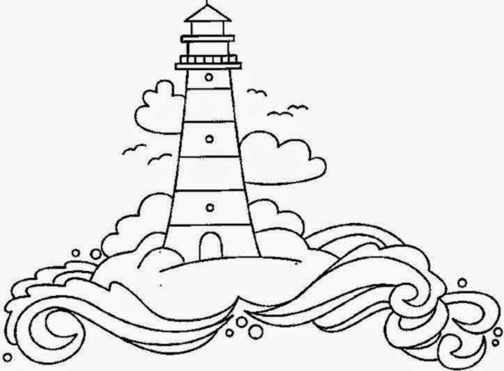 Coloring Pictures Of Lighthouse Lighthouse Drawing Lighthouse