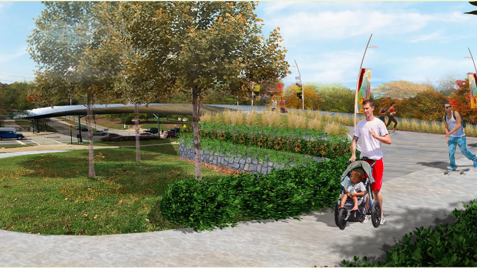 Dazzling Bridge Concept Emerges For Freedom Park Over Moreland Avenue Park Freedom Atlanta
