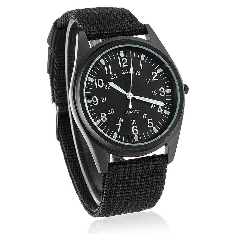 72ae0a6ad Souarts Mens Black Band Noctilucent Hands Quartz Analog Wrist Watch 25cm:  Amazon.co.uk: Watches