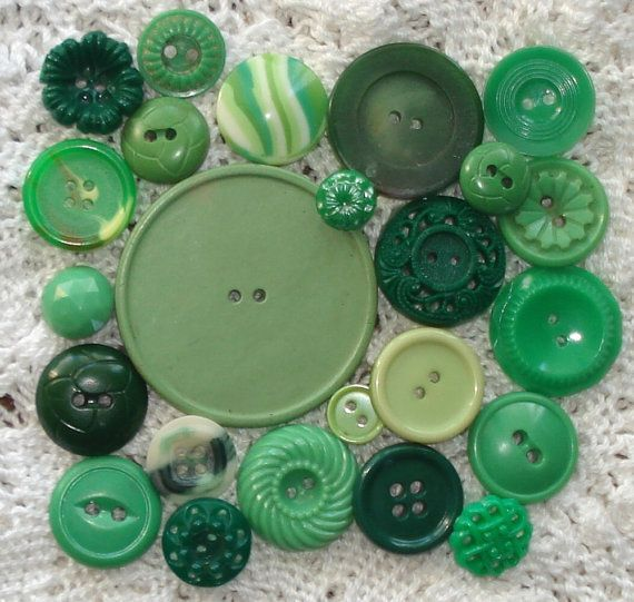 Green Buttons  Green Sewing Buttons  by CoolStuffUnlimited on Etsy