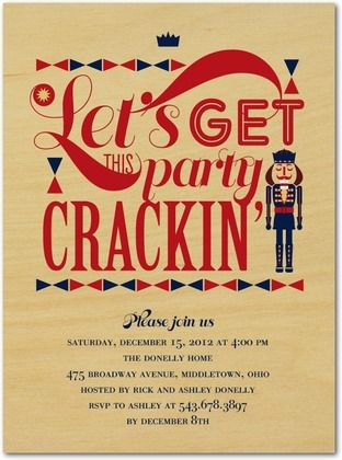 christmas nutcracker party invitations Nutcracker Pinterest - holiday party invitation