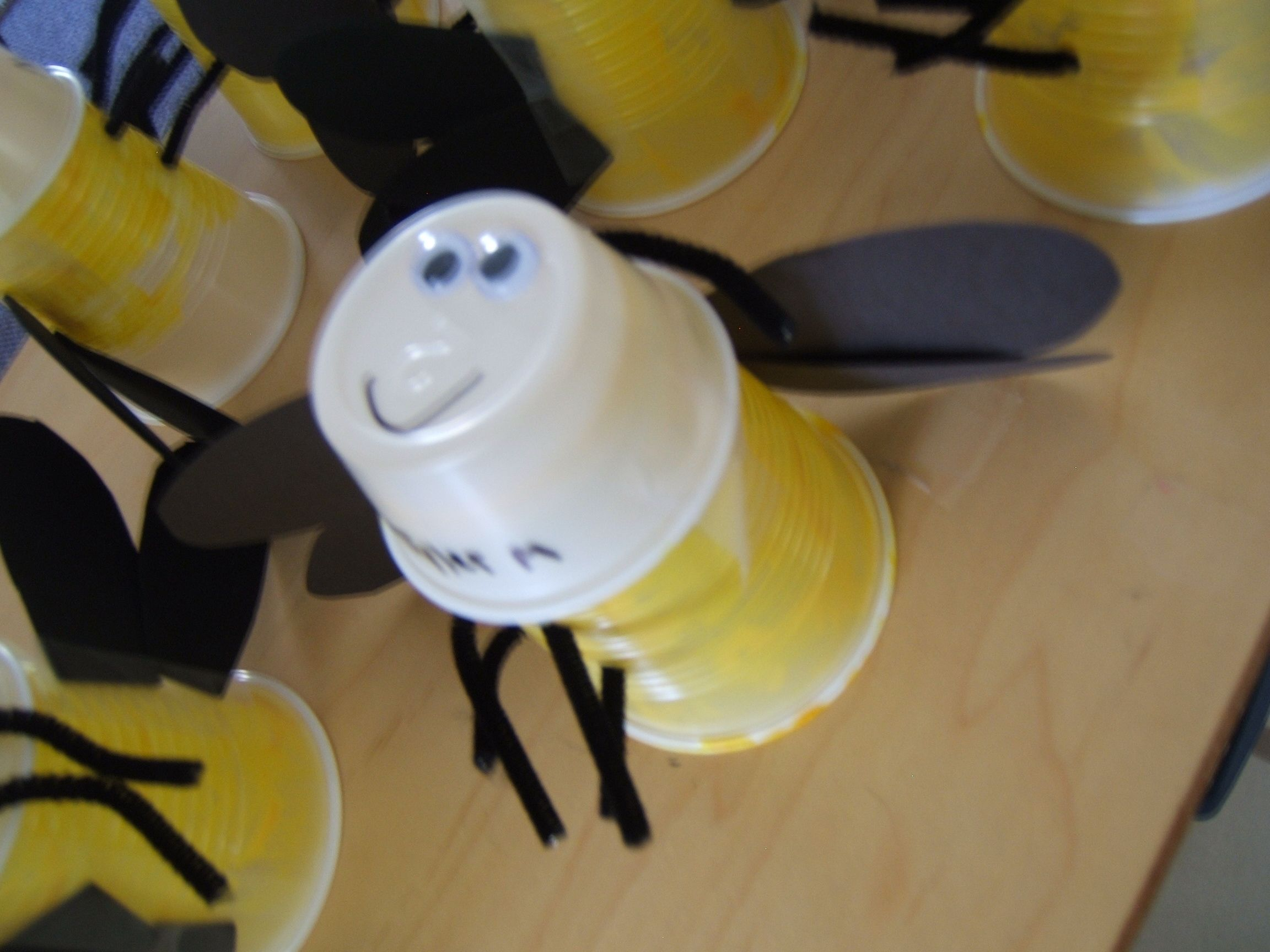 Theme: Bugs, Summer  Fireflies! Just stick a flashlight in the cup and they have their own personalized bug!
