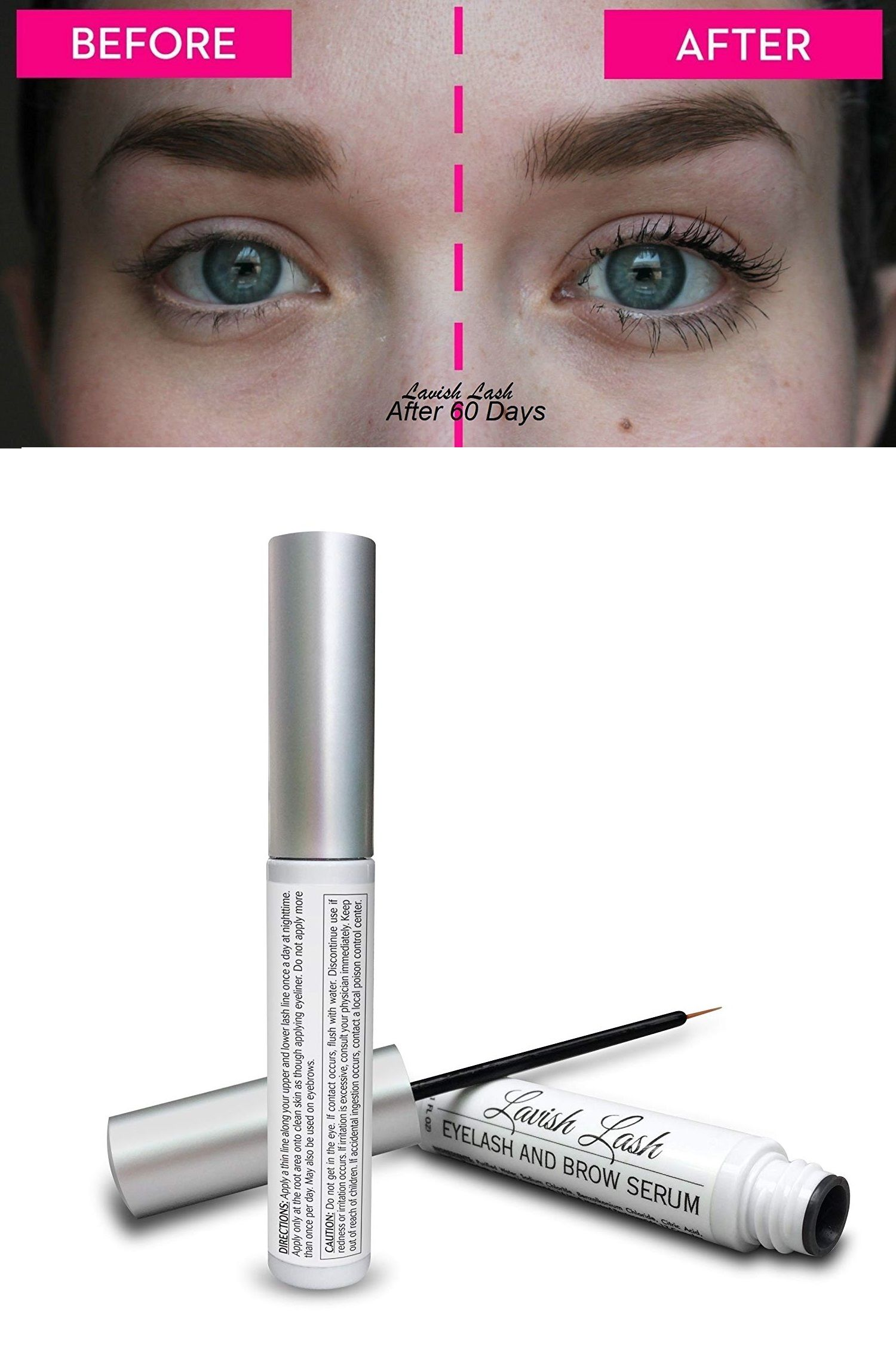 24fc3aeb8b8 Hairgenics Lavish Lash – Eyelash Growth Enhancer & Brow Serum for Long,  Luscious Lashes