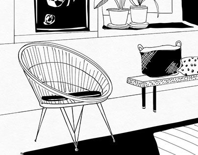"Check out new work on my @Behance portfolio: ""Interior Styling Line drawings"" http://be.net/gallery/48614909/Interior-Styling-Line-drawings"