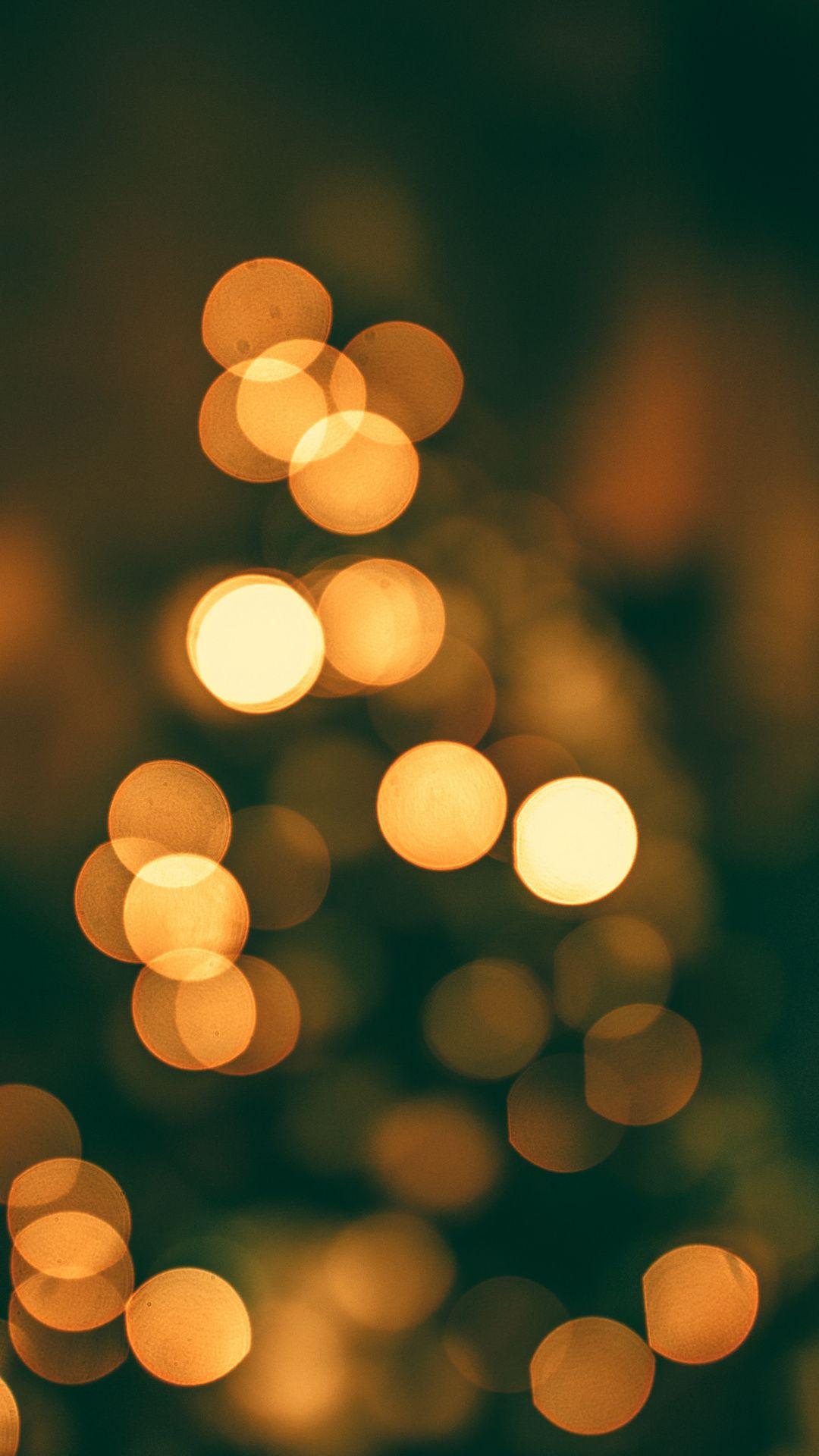 Bokeh Lights Yellow Wallpaper In 2019 Blurred Lights