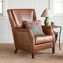 SOHO LEATHER WING CHAIR