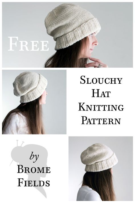 Simple, classic slouchy hat ;) | Knitting techniques | Pinterest