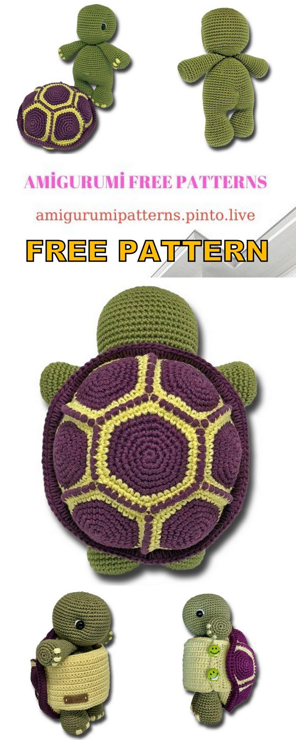 Amigurumi Turtle Free Crochet Pattern – Amigurumi Free Patterns