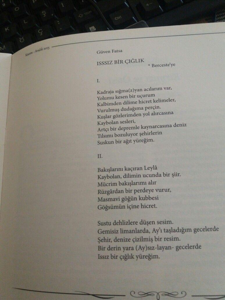 Issız Bir Çığlık -Mavi Edebiyat Dergisi 96. Sayı (Kasım Aralık)2015-
