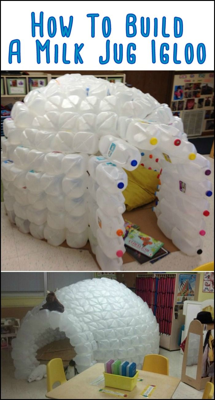 Build A Milk Jug Igloo For The Kids Recycling For Kids Milk Jug Igloo Milk Jug Crafts