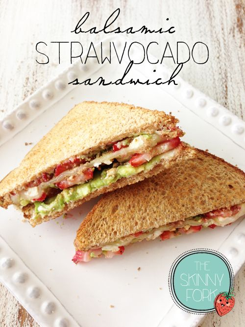 Balsamic Strawvocado Sandwich — One of the best sandwiches that I've had in a long time! Perfect for summer and staying bikini ready!