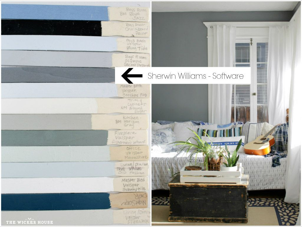 office wall paint colors. Office Walls: Software, SW. 7074. The Wicker House Paint Colors Wall H