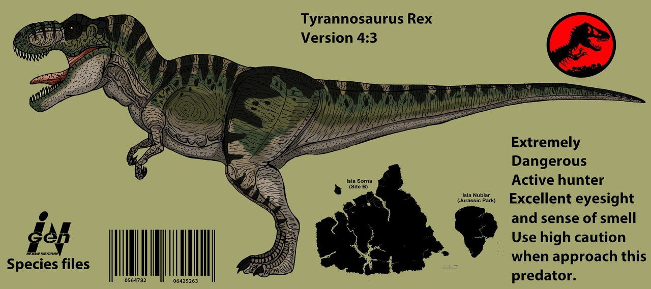 Jurassic Park: Tyrannosaurus Rex (Updated 2016 !!) by Hellraptor on ...