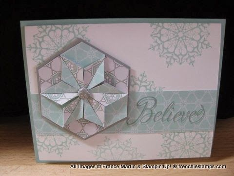 Stamp & Scrap with Frenchie: Punch Art Hexagon Star