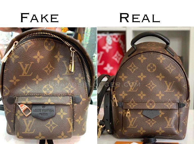 How To Spot Fake Louis Vuitton Palm Springs Mini Backpack Brands Blogger Palm Springs Mini Backpack Louis Vuitton Lv Mini Backpack