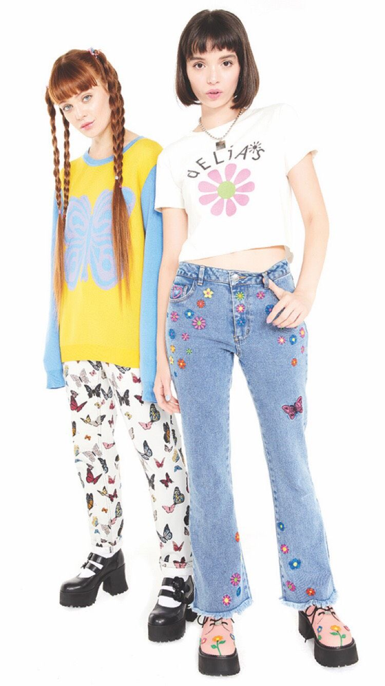 dELiA*s Girls/' Denim Jeans with Embroidered Flowers
