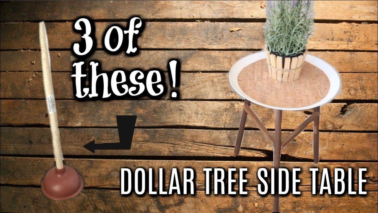 Dollar tree farmhouse diys patio side table wood