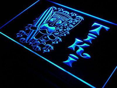 i584-b-Surf-Tiki-Bar-Mask-Tree-Decor-Neon-Light-Sign