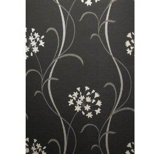 Mia Feature Wall Wallpaper Designer Black White Amazon Co Uk Kitchen Home Feature Wall Wallpaper Black And White Wallpaper Wall Wallpaper