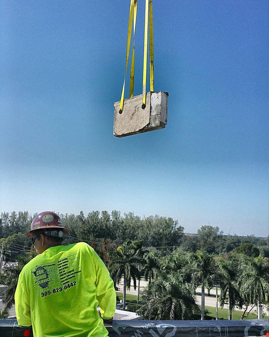 Flying Concrete  #concretecutting #concretecuttingmiami #construction #miami #constructionsite #demolition #miamibeach #concreteconnection #concrete