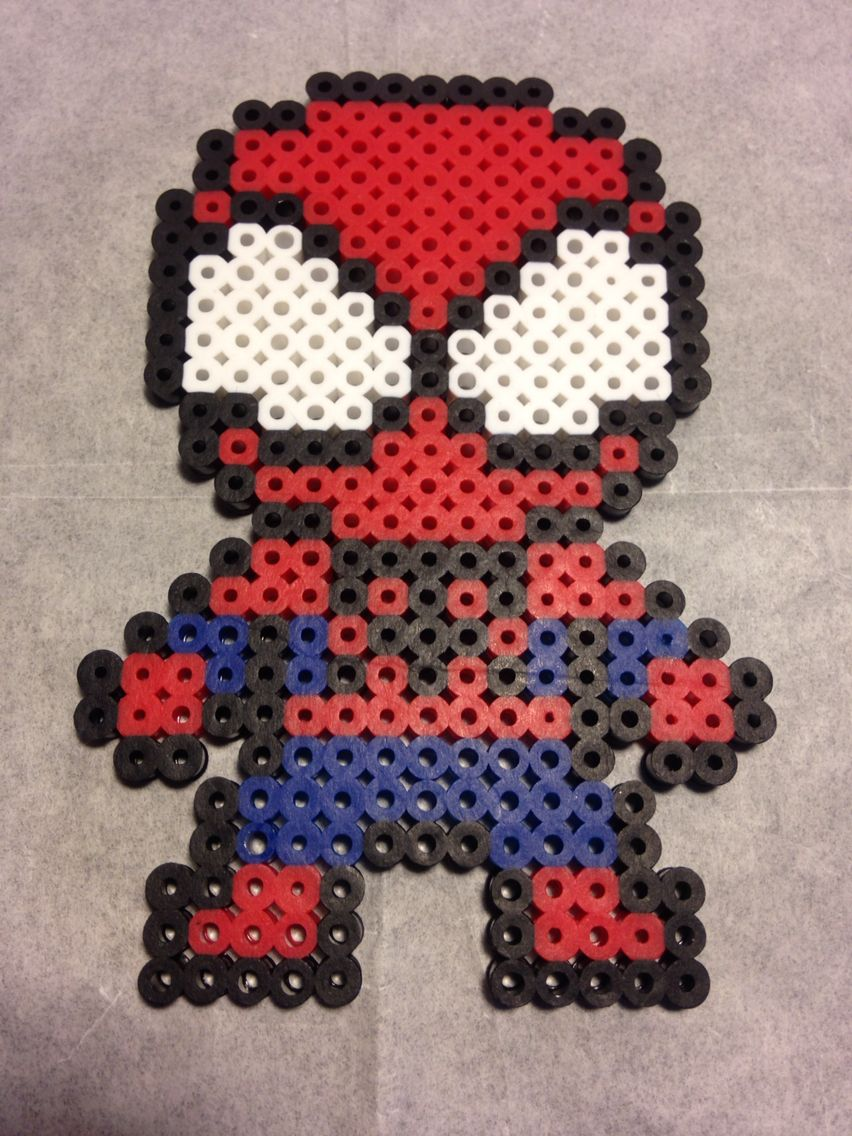 Super Heroes made of fuse beads by capricornc5 on DeviantArt   Superhero Fuse