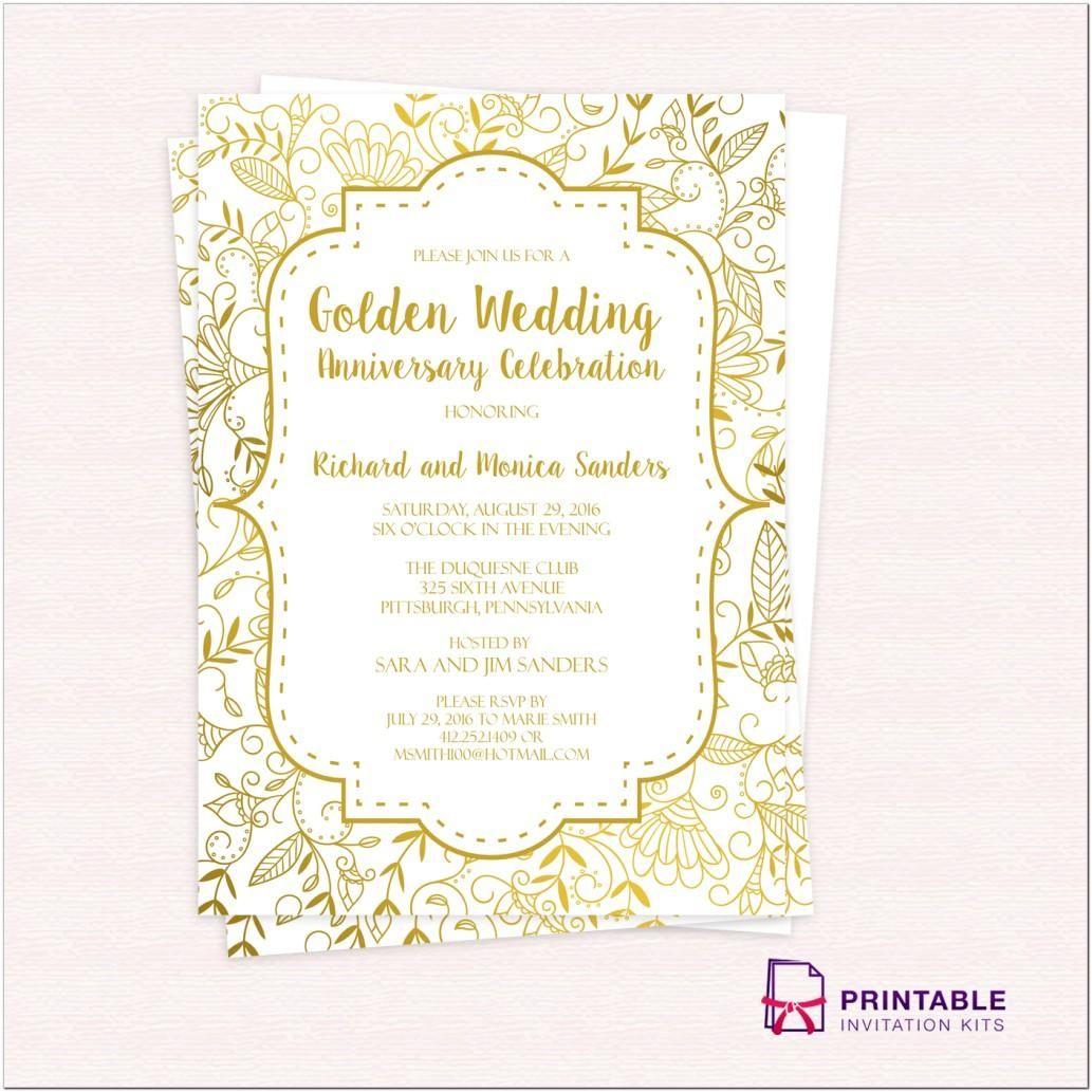 1st Death Anniversary Invitation Sample Template Designs Thr Golden Anniversary Invitations 50th Anniversary Invitations 50th Wedding Anniversary Invitations