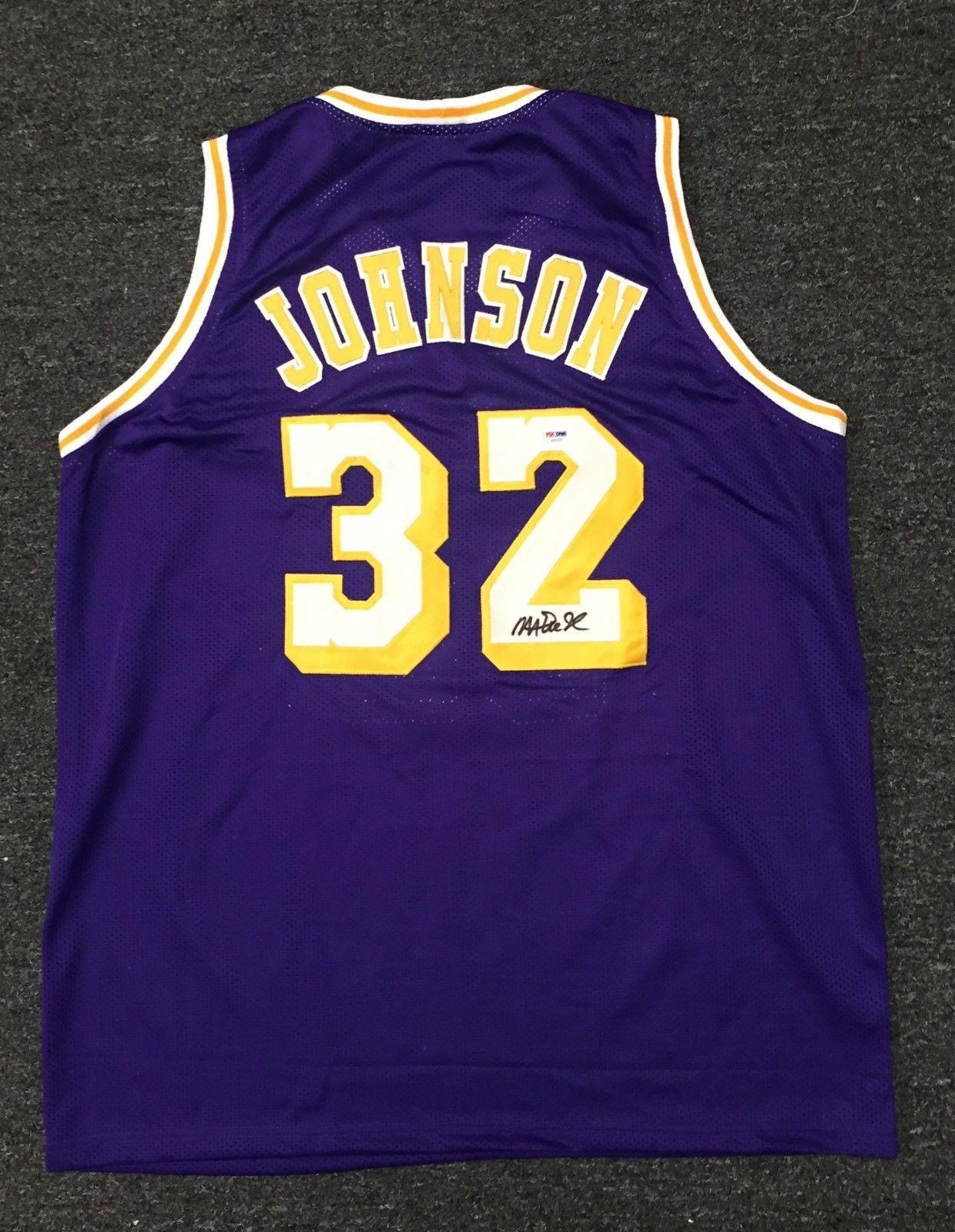 4a1ae2630e7 21908 Magic Johnson #32 Signed Lakers Jersey AUTO Sz XL PSA/DNA COA HOF  #Basketball