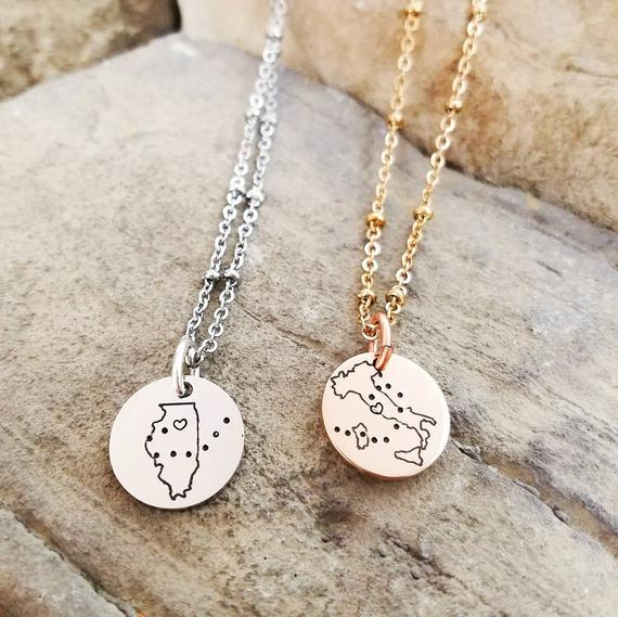 e0f713c05c66a Best Friend Necklaces - Long Distance Friendship Jewelry -Best ...