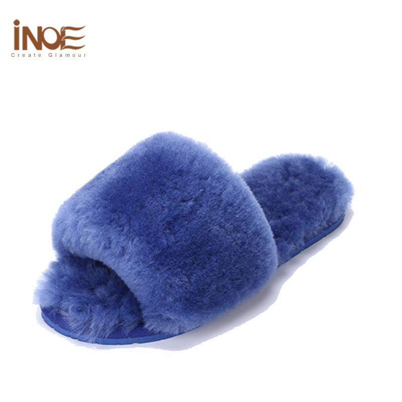 new arrival sheepskin leather bedroom slippers women s shoes indoor slipper natural wool. Black Bedroom Furniture Sets. Home Design Ideas