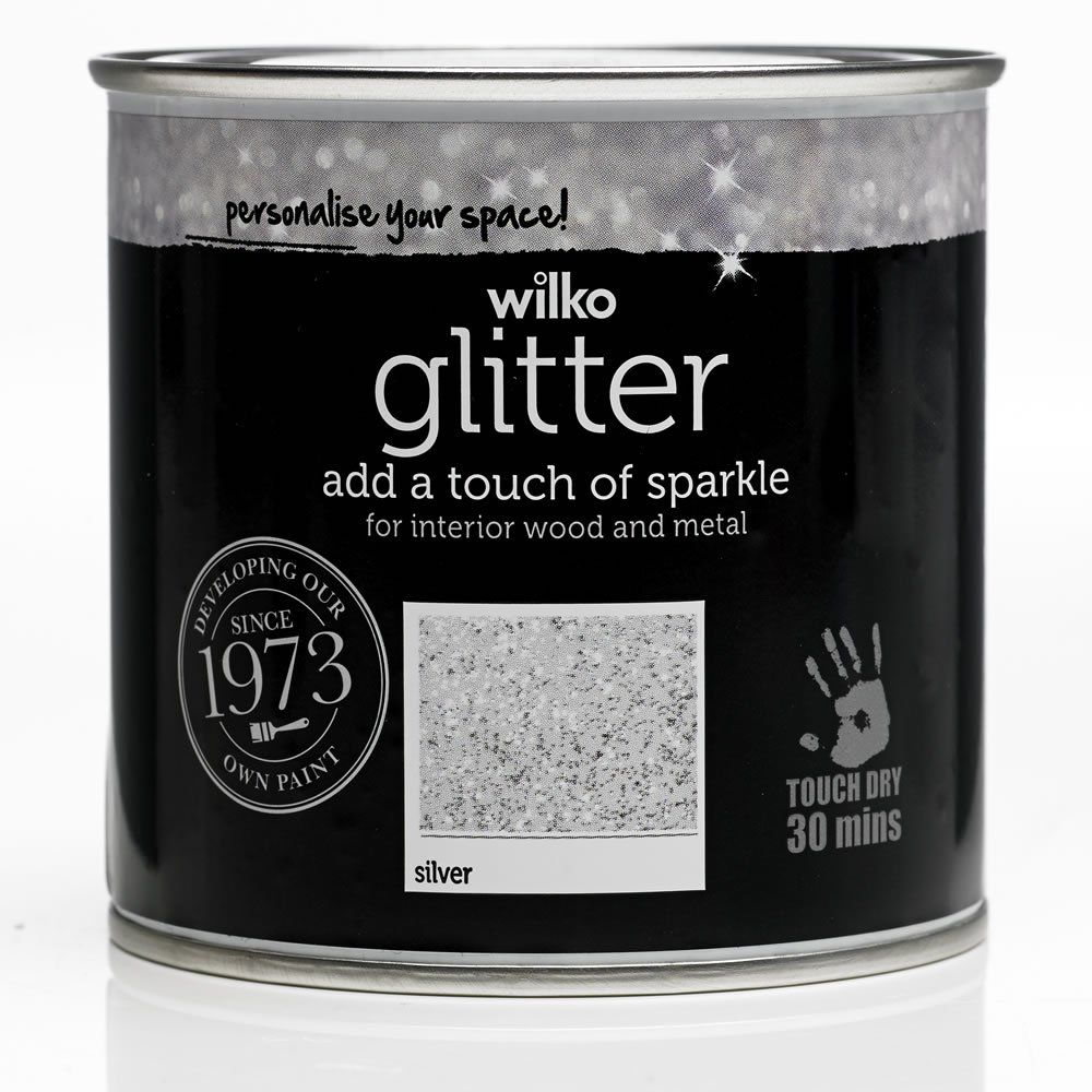 Silver Glitter Interior Wood and Metal Paint 250ml in 2020