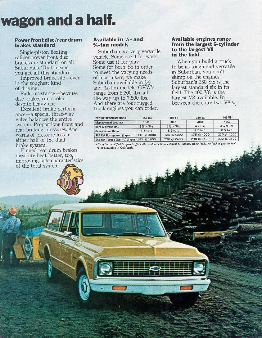Car Brochures 1972 Chevrolet And Gmc Truck Brochures 1972