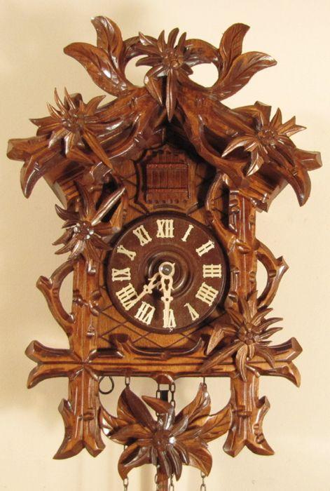 black forest cuckoo clock w/Edelweiß