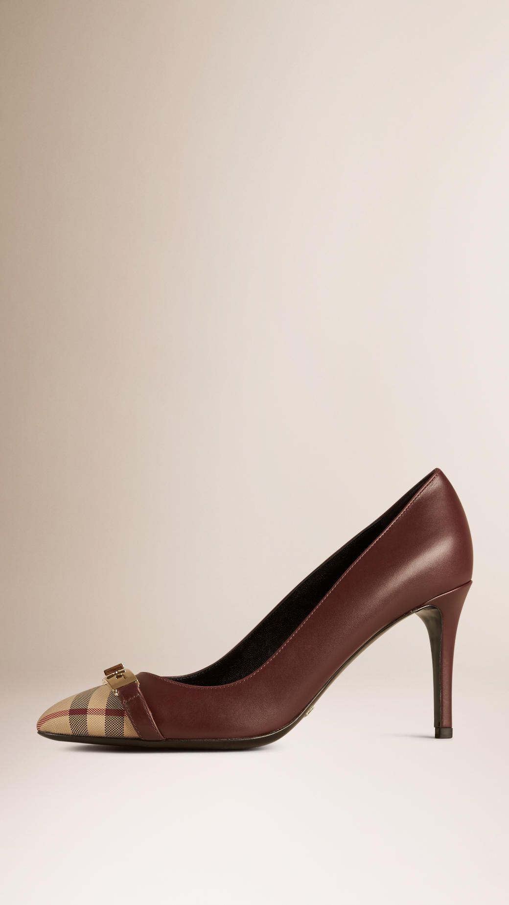 a74e1eb71bc Shoes for Women | Burberry | Shoes, Leather pumps, Brown pumps