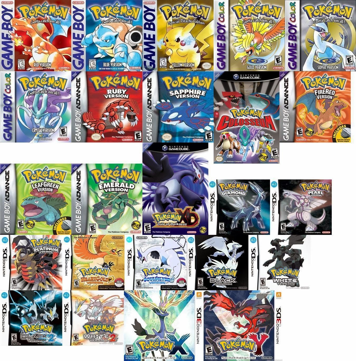 List of Pokémon games | Nintendo | Fandom