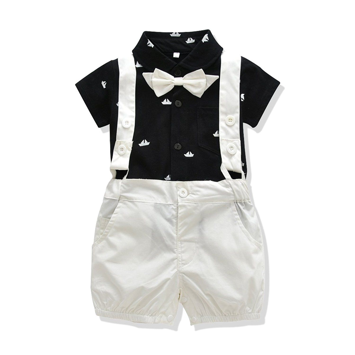 Amazon Com Ferenyi Us Baby Boys Bowtie Gentleman Romper Jumpsuit Overalls Rompers 7 12 Mont Trendy Baby Boy Clothes Baby Boy Outfits Fashionable Baby Clothes