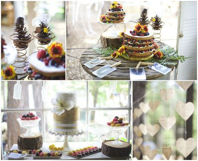 Vintage Blossom Cakes at Tin Roof Farmhouse Open house, photos by Katie White Photography