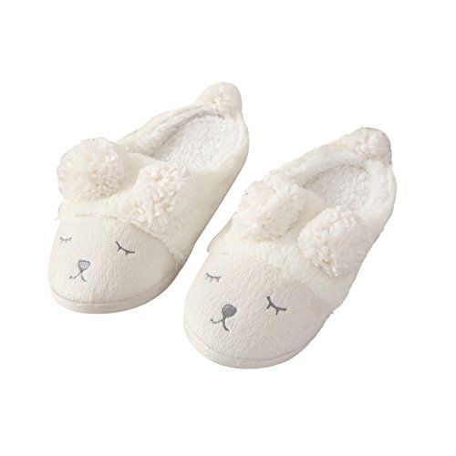 Womens Slippers Winter Warm Slippers Short Plush Cozy Home