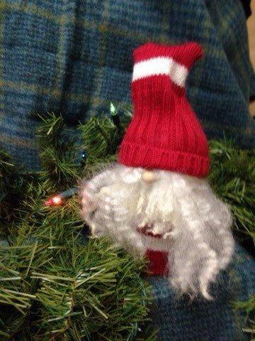 Christmas Gnome, Tomte, Scandinavian Nisse, Elf, Wool, Woodland, OOAK, Handmade by OohHuddaOriginals on Etsy