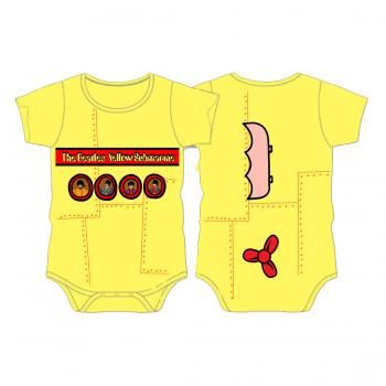 Authentic THE ROLLING STONES Tongue Logo Yellow Baby Creeper 0-24 Months NEW