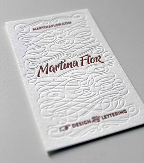 40 Clean White Business Cards For Your Inspiration Letterpress Business Cards Cool Business Cards Business Card Inspiration