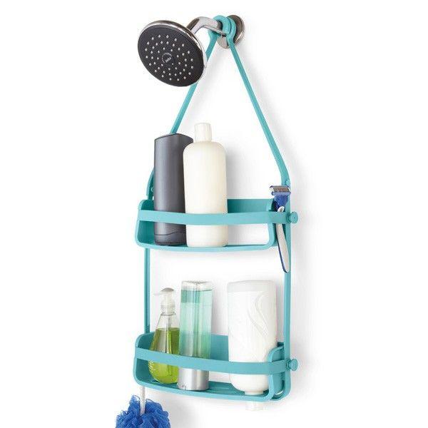 Umbra Flex Shower Caddy - Surf Blue   Cubicle door, Bathroom storage ...