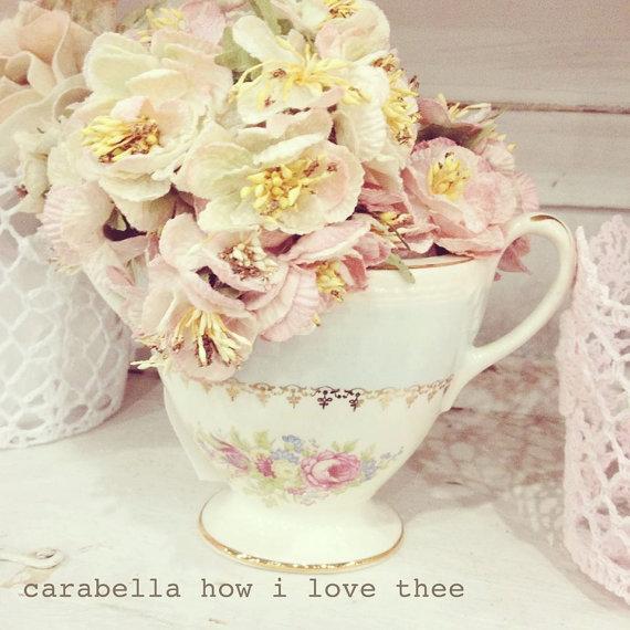 Carabella Rose Posy Cream. velvet flower posy. velvet flowers. millinery flowers. craft flowers.