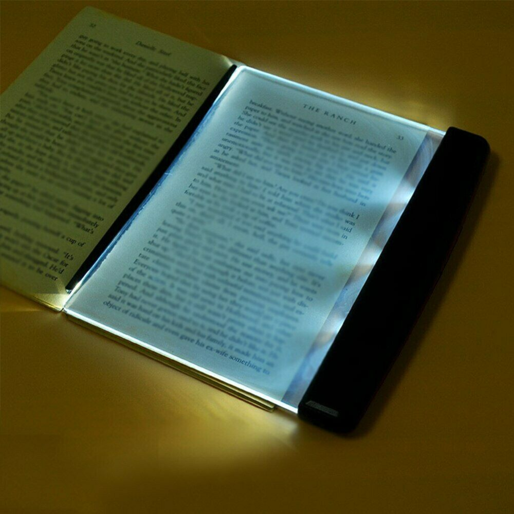 Us 1 92 23 Off 1pc Led Book Light Creative Reading Night Light Flat Plate Portable Car Travel Panel Led Desk Lamp For Home Indoor Kids Bedroom Book Lights Book Lights Reading Light