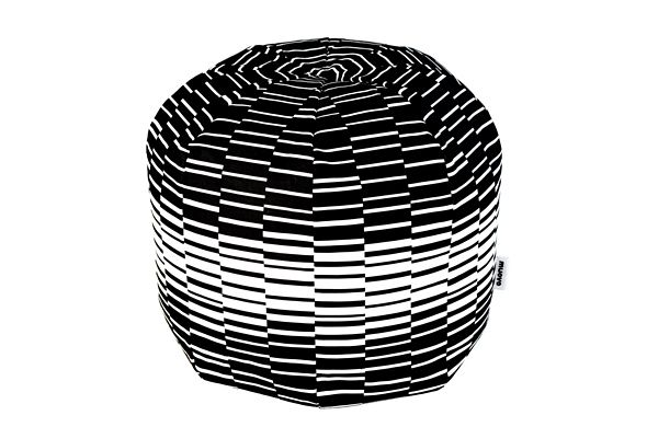 Black and white footstool, Muovo