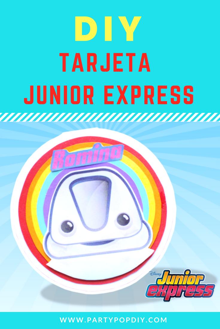 Tarjeta Junior Express Juniorexpress Partyideas Fiestas