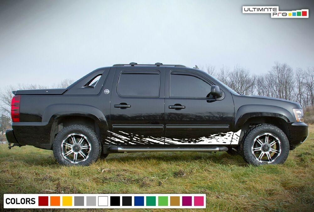 Decal Sticker Lower Mud Splash Kit For Chevrolet Avalanche Repair